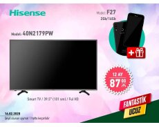 smart tv hissense telefon hediyye