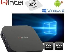Wintel w8 Windows + android sistemli tv box Quad Core 32gb